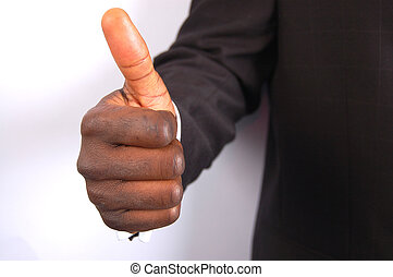 Great Work - This is an image of a businessman giving thumbs...