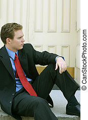 Business leader 15 - Business leader wearing black suit with...