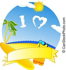 beach - Beach, sea, i love