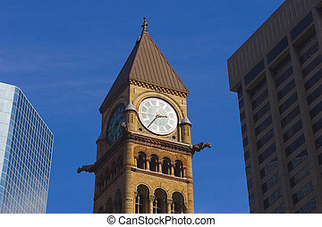 City lines - bell clock tower, canadian Big Ben