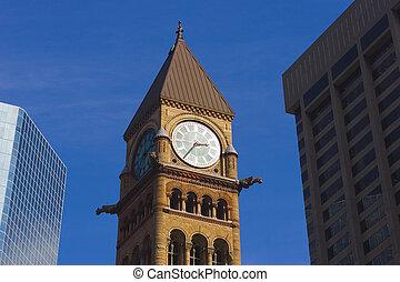 City lines - bell clock tower, canadian Big Ben