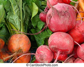 roots and greens - root vegetables and greens