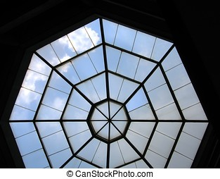 Octagon Skylight - -- in a dome like building