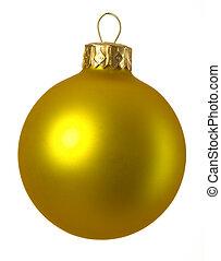 christmas ball - separated golden christmas ball