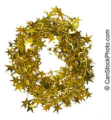 christmas decoration - golden garland with stars