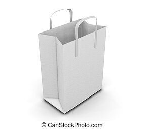 Shopping bag - 3D render of shopping bag