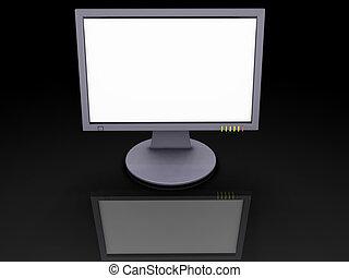 TFT screen - 3D render of a TFT screen