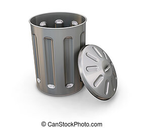 Trash can - 3D render of a trash can