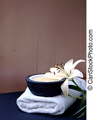 Treatment resort - Image shows a treatment room at a spa...