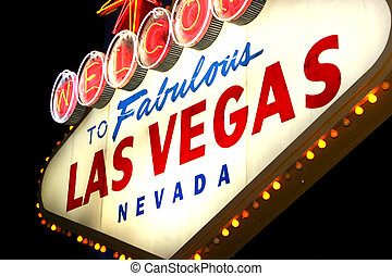 Las, Vegas, neón, señal