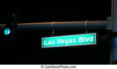 Las Vegas Blvd. sign