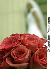 pink bouquet - pink roses in a bouquet