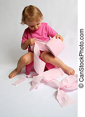 Potty - Little baby and pink potty