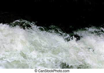 Raging Water - Raging water from Cascade Falls in the...