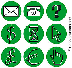 Computer Icons - Set of 9 Computer related icons