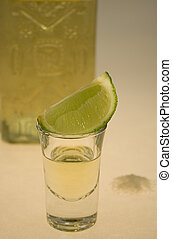 Tequila II - Tequila glass and lime segment