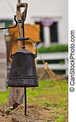 Coffee Pot - Coffee pot hanging over fire at Civil War...