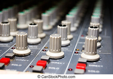Studio Mixer - closeup of a studio mixer