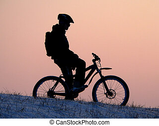 cycling - mountain biker - snowrider