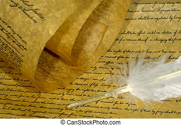 Parchment Paper and a Feather