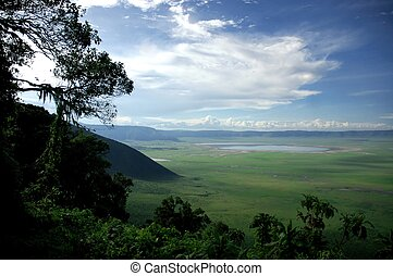 Ngorongoro Crater, one of the world\\\'s seven natural...