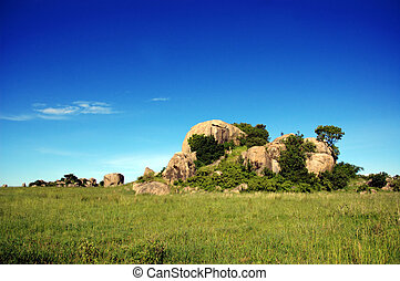 Rock Formation - A rock formation in Serengeti National...