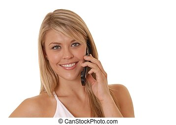 Phone Girl - Lovely girl talking on cell phone