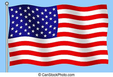 United States Flag - Computer Illustration of the United...