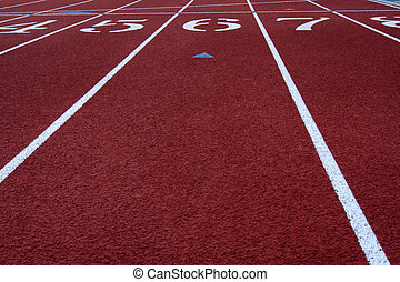 Finish line - The finish line in a running track