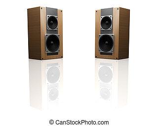 Speakers - 3D render of speakers