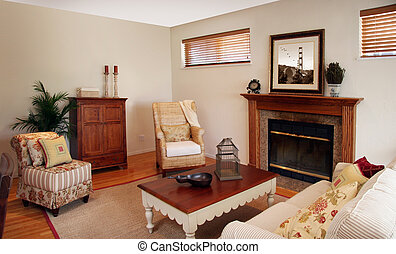Old fashion interior - Old fashion living room