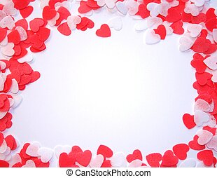 Hearts Frame - frame of red and white hearts