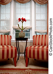 two chairs - living room interior with two chairs