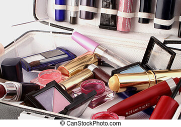 makeup case - case full of makeup