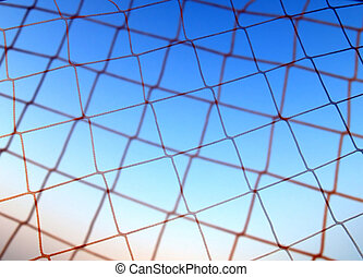 Net and sky