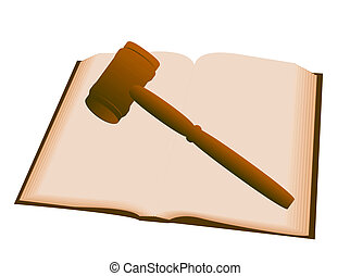 Law - Gavel over book illustration