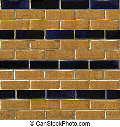 Brick Seamless 8 - Seamlessly tileable photo of a brick...