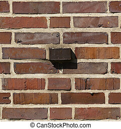 Brick Seamless 7 - Seamlessly tileable photo of a brick...