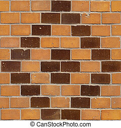 Brick Seamless 5 - Seamlessly tileable photo of a brick...