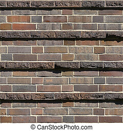 Brick Seamless 2 - Seamlessly tileable photo of a brick...