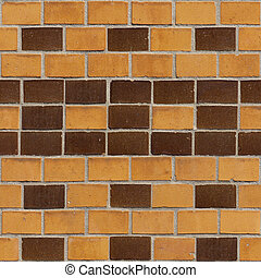 Brick Seamless 1 - Seamlessly tileable photo of a brick...