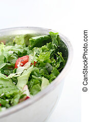 Green salad - fresh green salad in a bowl