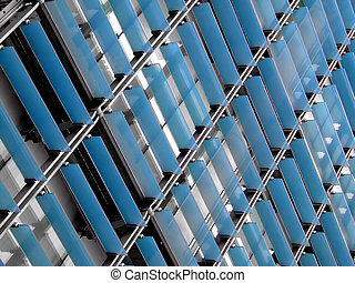 Glass facade - Blue glass facade building texture