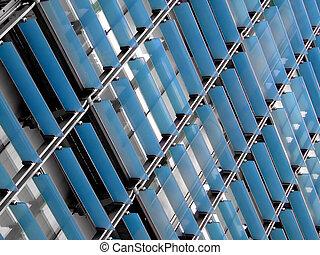 Glass facade - Blue glass facade building texture