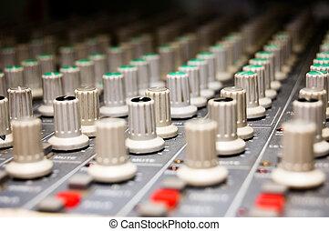 Studio Mixer - closeup of a studio mixer
