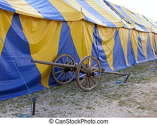 tent with cannon