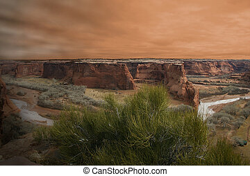Canyon Sunset - Sunset over Canyon de Chelly