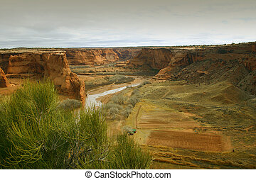 Canyon de Chelly, a national monument north of the Grand...