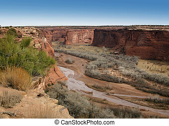 Desert Canyon - Canyon de Chelly, a national monument north...