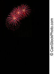fireworks - Fireworks blast with lots of copyspace, vertical...